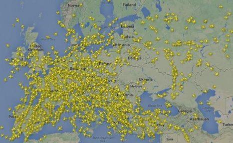harta traficului aerian